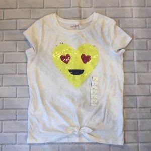 Girls flip sequins shirt